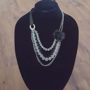 New York & Co - 90's Ribbon & Chain Necklace